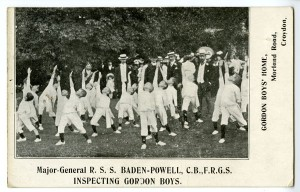 Major-General Baden-Powell visiting the children at Gordon Boys Home, Croydon, c1908