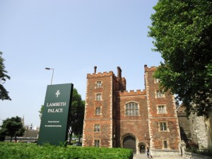 The main gate of Lambeth Palace