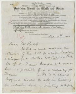 Letter from case file 2965, mentioning the benefit of inland air for eczema, 1893