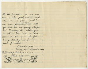 Letter from Edward to his mother, 1911 (case number 12589)