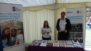 Janine and Ian at The Children's Society Archive stand