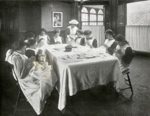 Girls at St Chad's Home, in Far Headingley, Leeds 1914