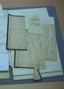 Historical damage to brittle case file