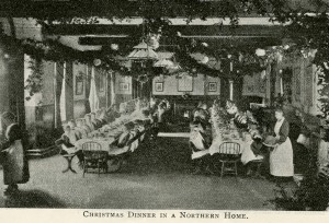 Christmas dinner at St Chad's Home, Far Headingley, Leeds, 1907