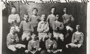 Photograph of the football team at Heywood Home for Boys, Greater Manchester, 1916