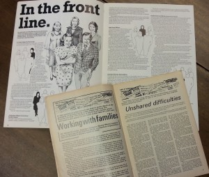 Annual review for The Children's Society, dated 1977/8, and a magazine sent to supporters of the charity, dated 1975, showing the change in emphasis in The Children's Society's work