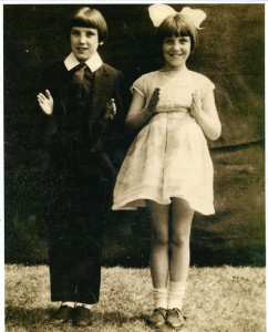 "Margarita (on the right) and a friend performing a ""doll dance"" at a fete"