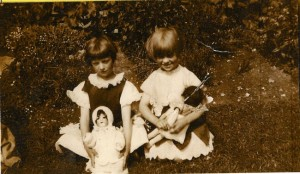 Margarita (on the right) with her doll