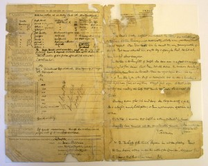 Archive ref: CF08464 Admission Form  The same document - after conservation