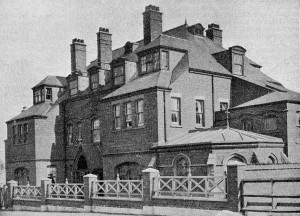The exterior of St Oswald's Home, Cullercoats, in1900.