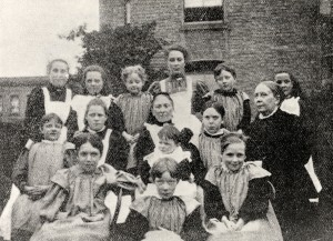 A group photograph of the girls from the home taken in 1897
