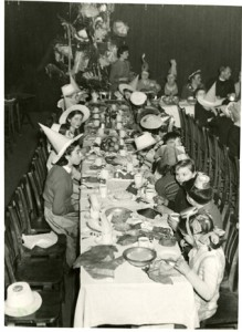 A large Christmas party, c1950s.