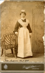 This girl was just about to start her career in domestic service, 1910. During her 12 years at the Bolton-le-Sands Home, she would have been well trained for her new life.