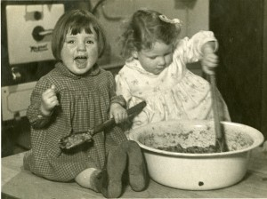 Stirring the Christmas pudding in The Society's homes , c1940s