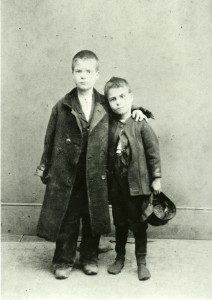 Two brothers in The Society's care, c1890