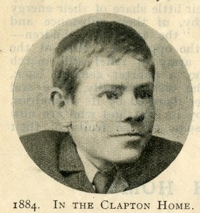 A photograph of John as a boy that appeared in the Our Waifs and Strays in magazine in 1901