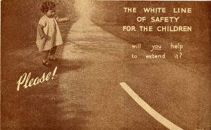Fundraising flyer, 'The White Line of Safety for the Children', used in the Society's supporter magazine Our Waifs and Strays in the 1930s