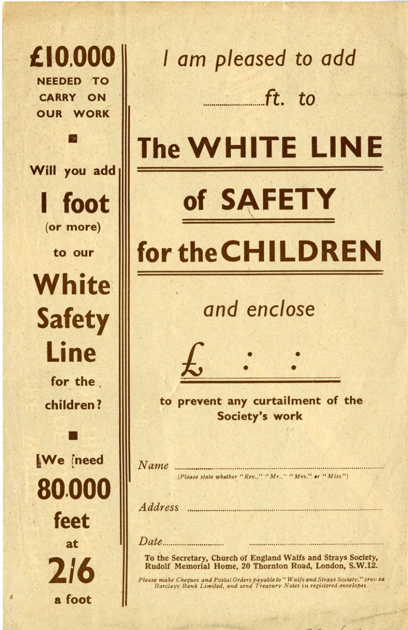 the white line of safety fundraising flyers in the s hidden donation form the reverse of the fundraising flyer the white line of safety for