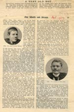 Image of Case 2 14. 'A very old boy', 'Our Waifs and Strays' magazine,  February 1907, pp 28 - 30  page 1