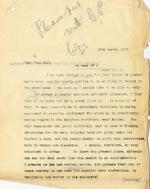 Image of Case 2 18. Letter to Mrs Hull  15 March 1907  page 1