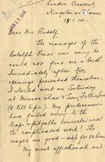 Image of Case 2 21. Letter from J.  18 January 1914  page 1