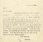 Image of Case 2 39. Letter from Revd Westcott to Mr Frost  22 January 1930  page 1