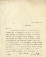 Image of Case 2 47. Letter to Dr Swan  14 February 1930  page 1