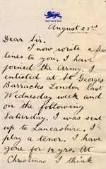 Image of Case 89 5. Letter from E 23 August 1890  page 1