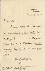 Image of Case 189 3. Letter from Miss J. 19 June 1890  page 1