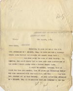 Image of Case 189 7. Letter from Secretary J 5 August 1931  page 1
