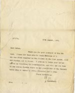 Image of Case 189 9. Letter from Secretary 20 August 1931  page 1