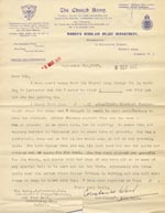 Image of Case 189 17. Letter from the Church Army, Women's Work-Aid Relief, 2 September 1931  page 1