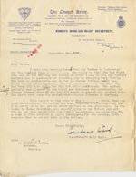 Image of Case 189 19. Letter from the Church Army, Women's Work-Aid Relief, 2 September 1931  page 1