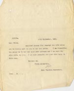 Image of Case 189 24. Letter from Miss H. 18 September 1931  page 1