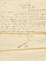 Image of Case 189 31. Letter from E. 5 October 1931  page 1