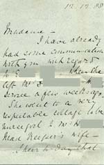 Image of Case 239 7. Letter about E., enclosed with above item  12 December 1888  page 1