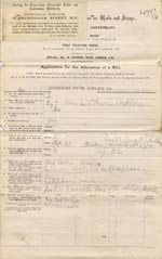 Image of Case 326 1. Application to Waifs and Strays' Society c. June 1884  page 1