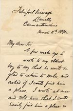 Image of Case 326 9. Letter to Revd Izat from Revd R. 11 March 1893  page 1