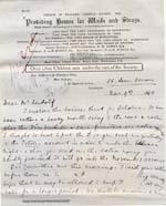 Image of Case 476 5. Letter from Alice Furneaux following a Committee meeting which had discussed E. and P's case  9 November 1893  page 1