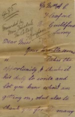 Image of Case 485 9. Letter from H. to Ellen Teesdale telling her about his life  [December 1898]  page 1
