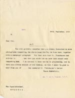 Image of Case 512 12. Letter to Supt W.F. Harold, Standon Home 26 September 1910  page 1