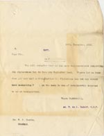 Image of Case 512 15. Letter to Supt W.F. Harold, Standon Home 14 December 1910  page 1
