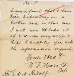Image of Case 512 16. Letter from Supt W.F. Harold, Standon Home 17 December 1910  page 1