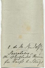 Image of Case 517 3. Note from Miss M.S. Bruce  31 August 1885  page 1