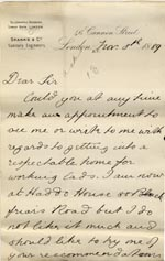 Image of Case 517 26. Letter from E.  8 November 1889  page 1