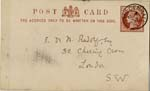 Image of Case 542 4. Card from Revd B. asking about F's possible admission to a Home  21 October 1885  page 1