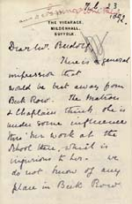 Image of Case 542 8. Letter from Mildenhall about F's delicate health  23 February 1892  page 1