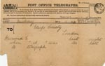 Image of Case 940 4. Telegram acknowledging E's arrival at Hill House Industrial School, Cold Ash  26 March 1887  page 1