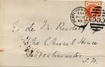 Image of Case 941 19. Card about license for M.  21 May 1895  page 1