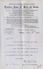 Image of Case 941 24. Letter from Hemel Hempstead including note of M's health  6 December 1895  page 1